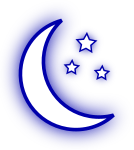 pjamm cycling clear-night weather icon