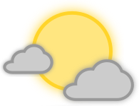 pjamm cycling partly-cloudy-day weather icon