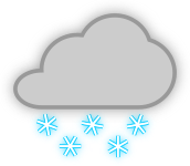 pjamm cycling snow weather icon