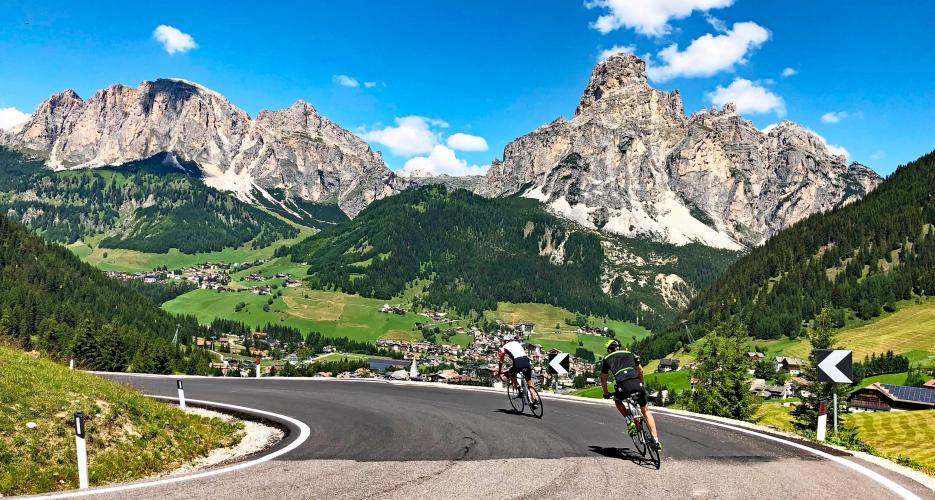 Passo Campolongo - Corvara Bike Climb - PJAMM Cycling