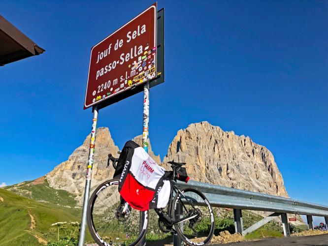 Passo Sella Canazei Bike Climb - PJAMM Cycling