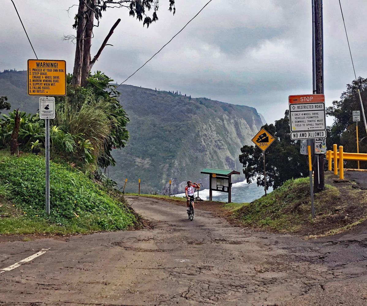 Waipio Road Bike Climb - PJAMM Cycling