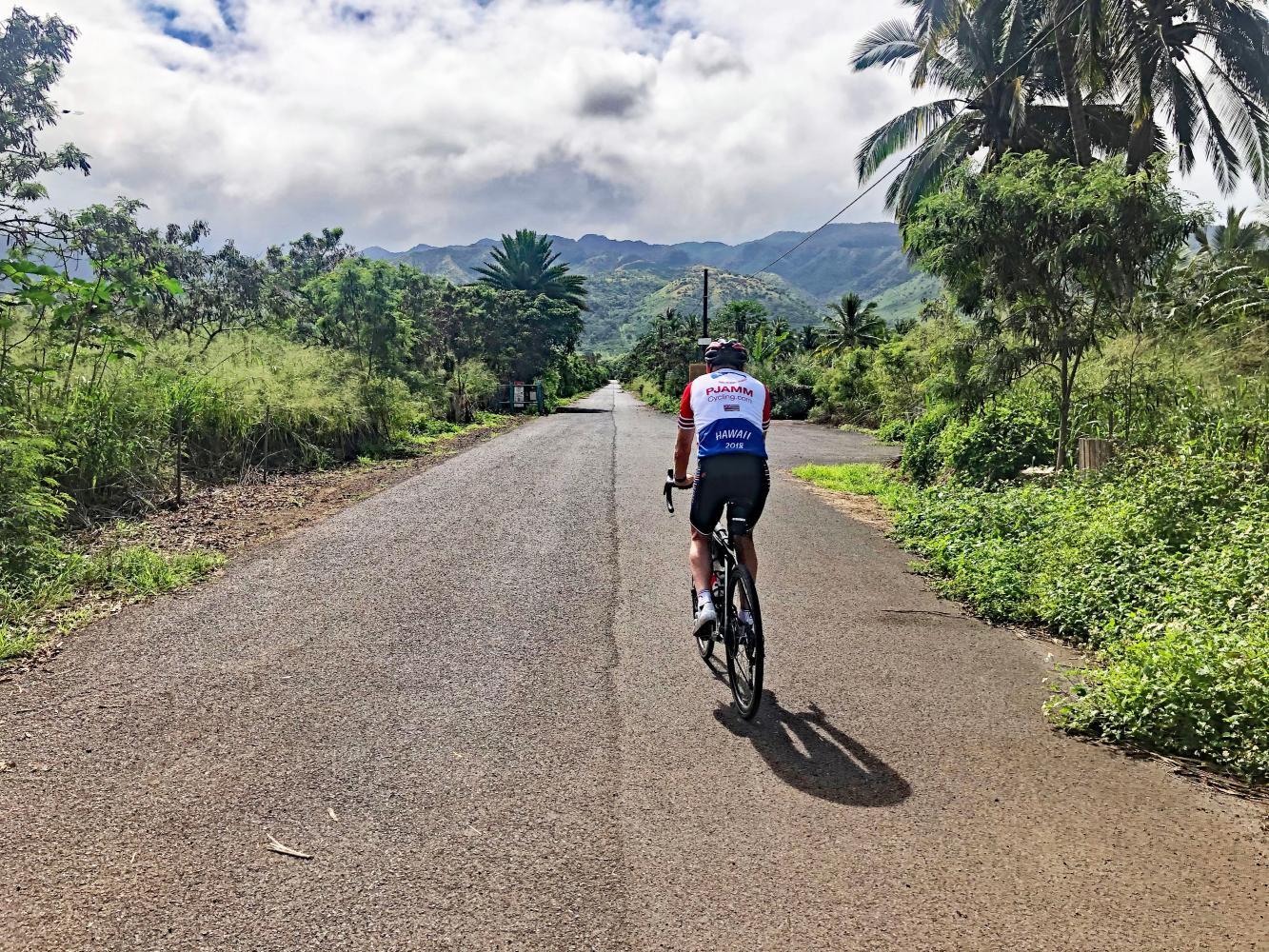 Mokuleia Forest Reserve Road Bike Climb - PJAMM Cycling