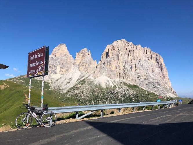 Sella Ronda (Campolongo-Pordoi-Sella-Gardena) Bike Climb - PJAMM Cycling