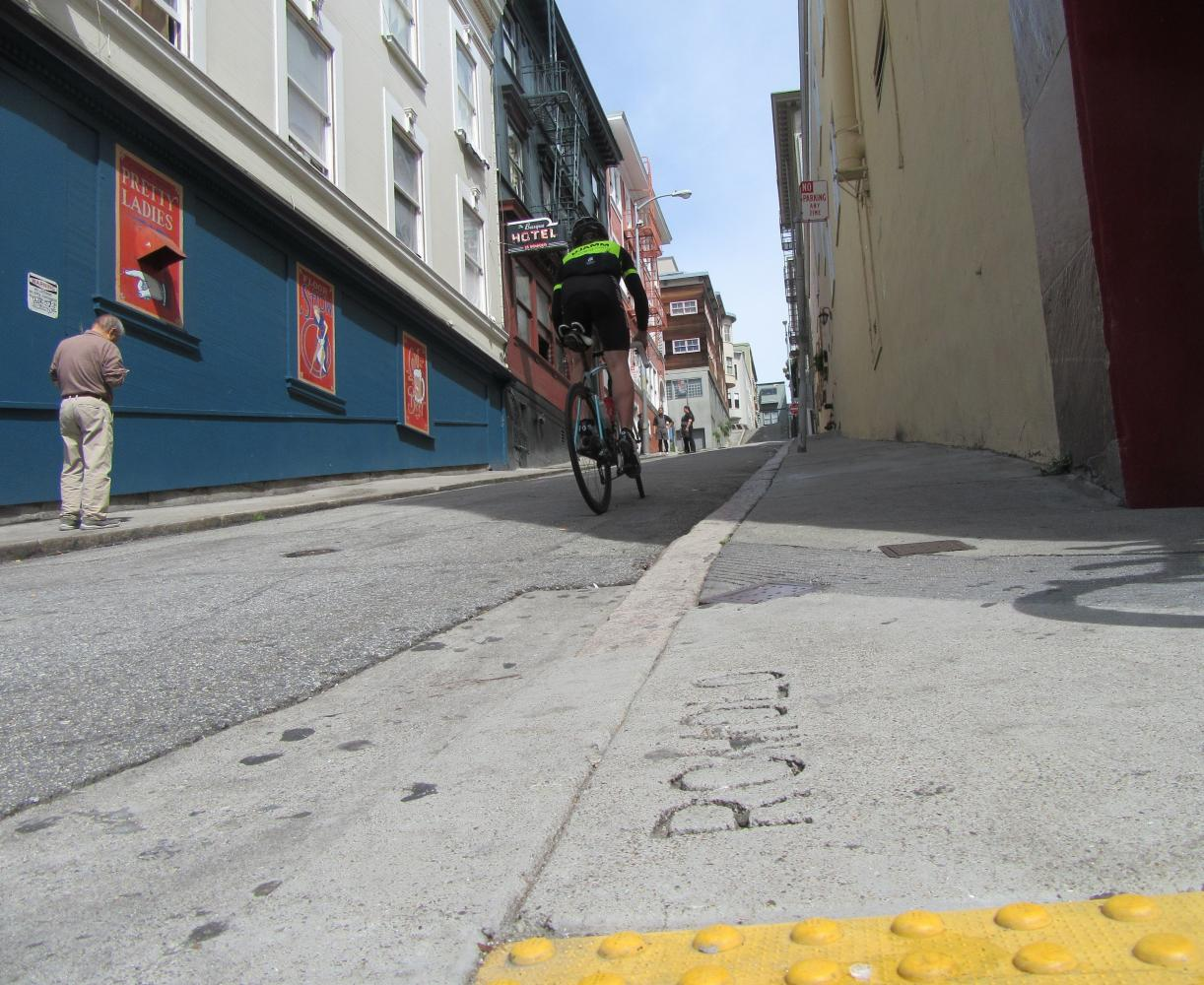 Romolo Street Bike Climb - PJAMM Cycling