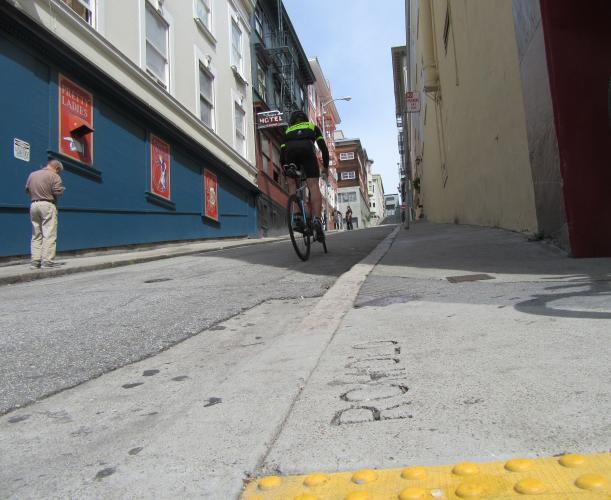 Romolo Street Bike Climb - PJAMM Cycling