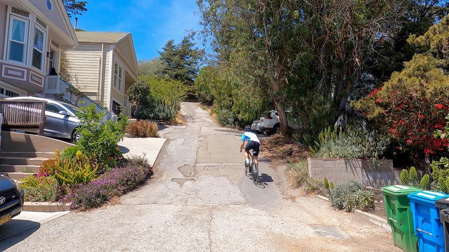 Nevada Street Bike Climb - PJAMM Cycling