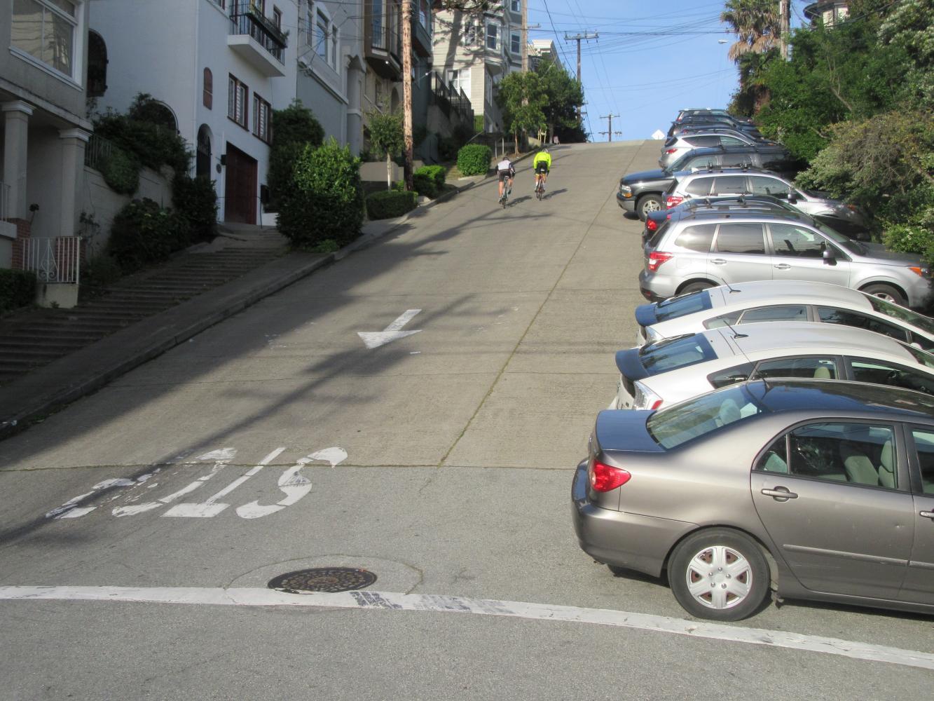 Filbert Street Bike Climb - PJAMM Cycling