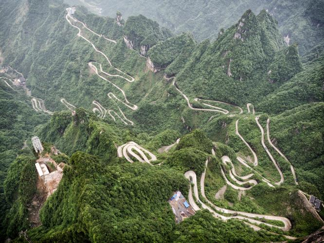 Tianmen Mountain road Bike Climb - PJAMM Cycling