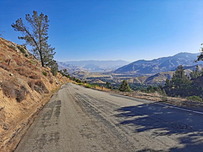 Caliente Bodfish Road Bike Climb - PJAMM Cycling
