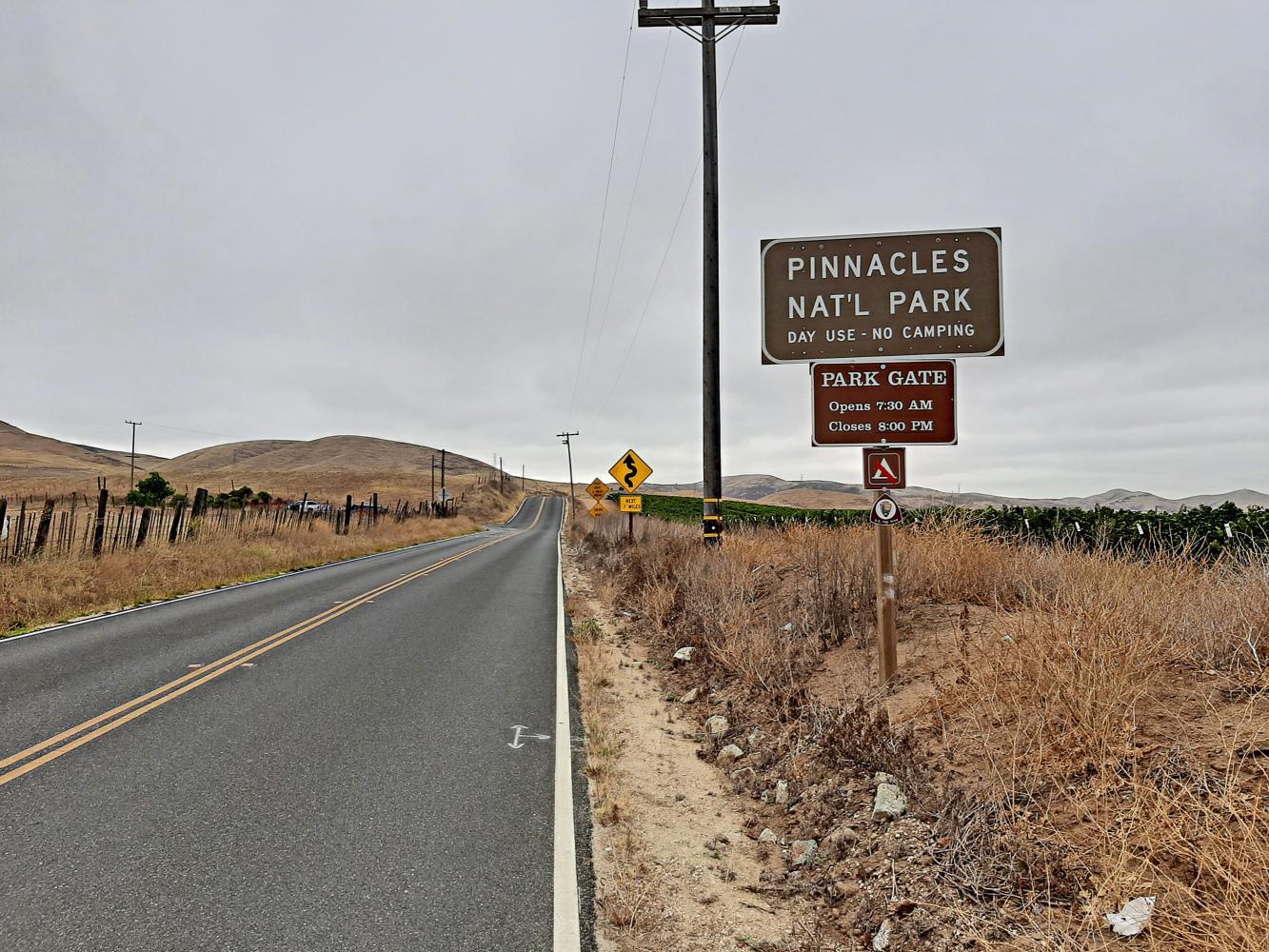 Pinnacles NP West Bike Climb - PJAMM Cycling