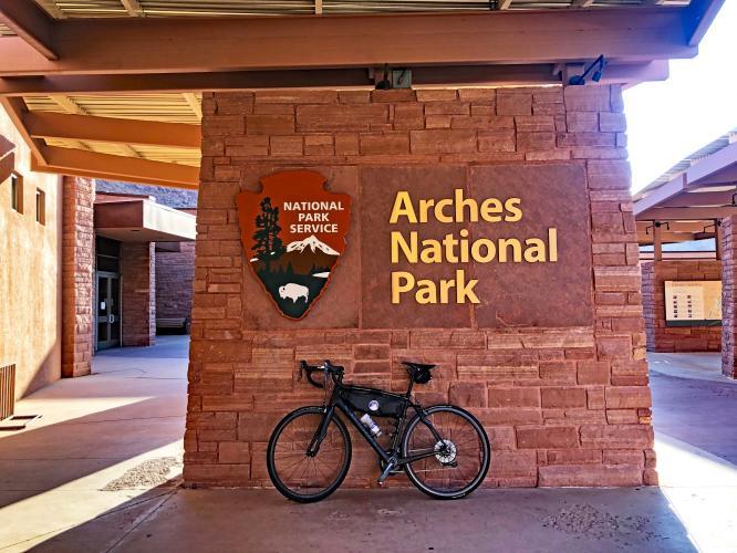 Arches Entrance Climb Bike Climb - PJAMM Cycling