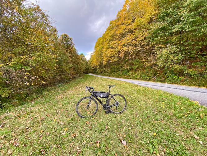 Blue Ridge Parkway to Waterrock Knob from Hwy 23 Bike Climb - PJAMM Cycling