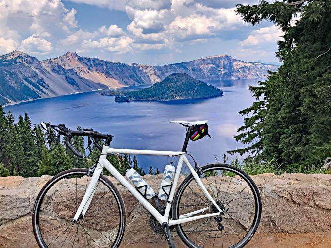 Crater Lake - North Entrance to Rim Bike Climb - PJAMM Cycling