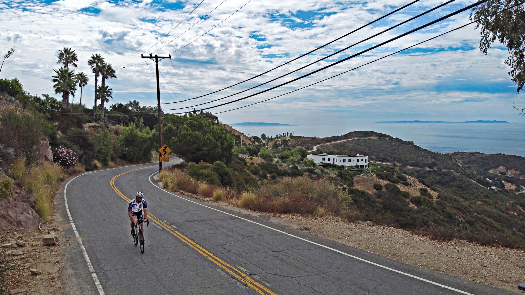 Las Flores to Piuma Summit Bike Climb - PJAMM Cycling