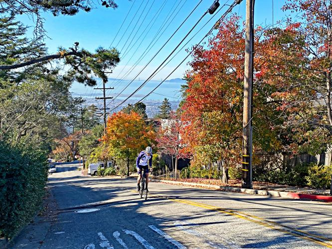 Marin Ave to Grizzly Peak Bike Climb - PJAMM Cycling