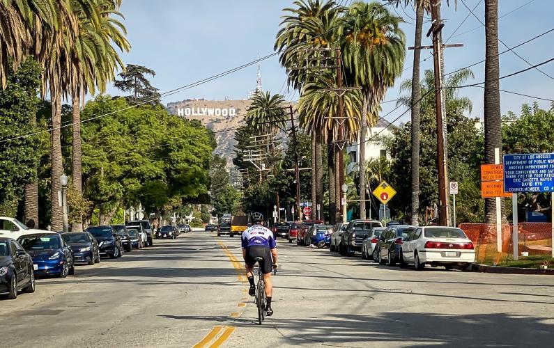 Hollywood Sign Bike Climb - PJAMM Cycling