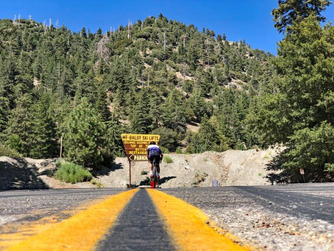 Mt. Baldy to the very top Bike Climb - PJAMM Cycling