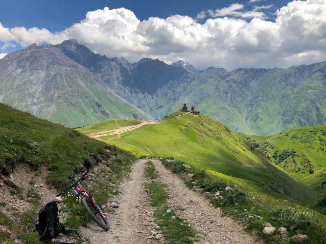 Gergeti Trinity Church Bike Climb - PJAMM Cycling