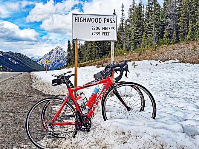 Highwood Pass South Bike Climb - PJAMM Cycling