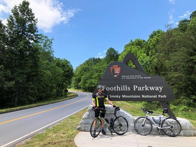 Foothills Parkway (Walland north) Bike Climb - PJAMM Cycling