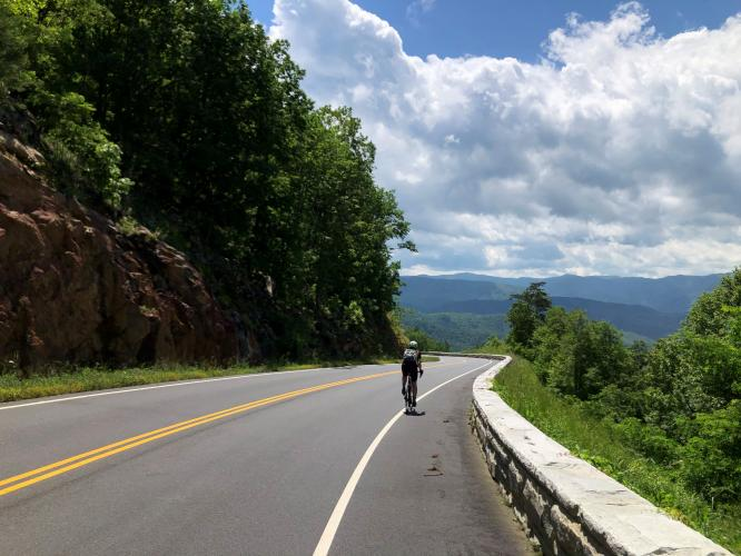 Foothills Parkway South Bike Climb - PJAMM Cycling