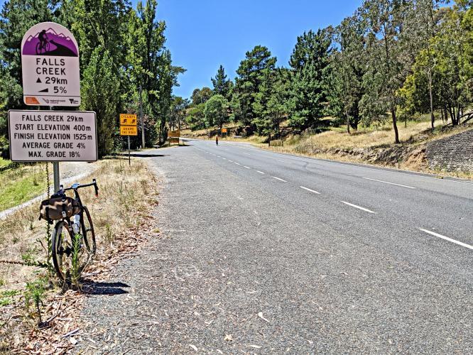Falls Creek from Mt. Beauty Bike Climb - PJAMM Cycling