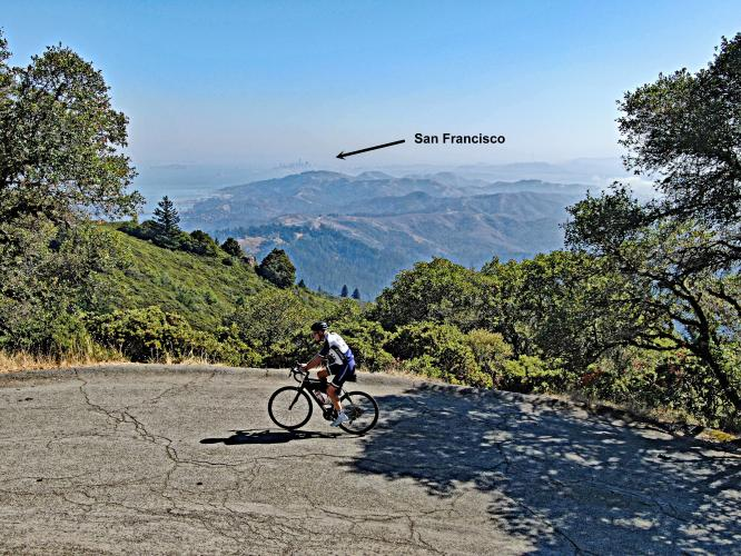Mt. Tam from Marion Ave Bike Climb - PJAMM Cycling