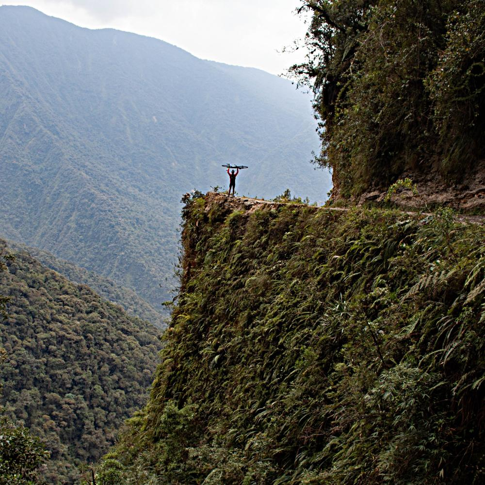 Cycling Climb - Death Road - Bolivia, Departamento de La Paz