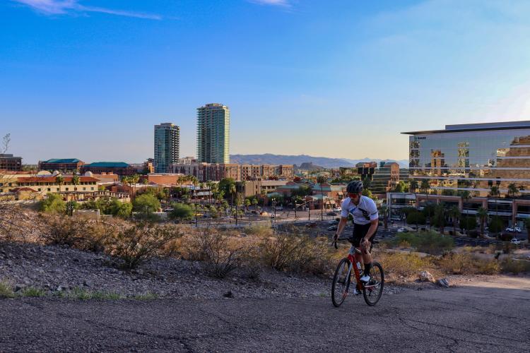 """""""A"""" Mountain (ASU) Bike Climb - PJAMM Cycling"""