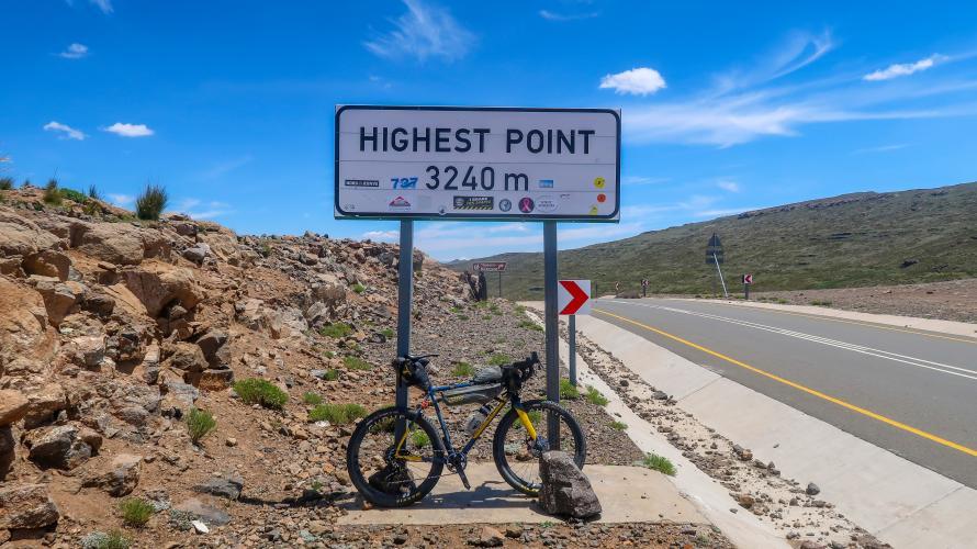 Black Mountain (via Sani Pass)  Bike Climb - PJAMM Cycling