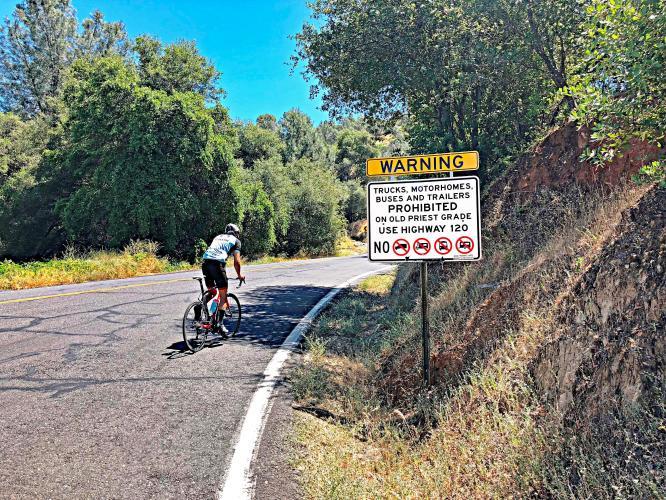 Old Priest Grade Bike Climb - PJAMM Cycling