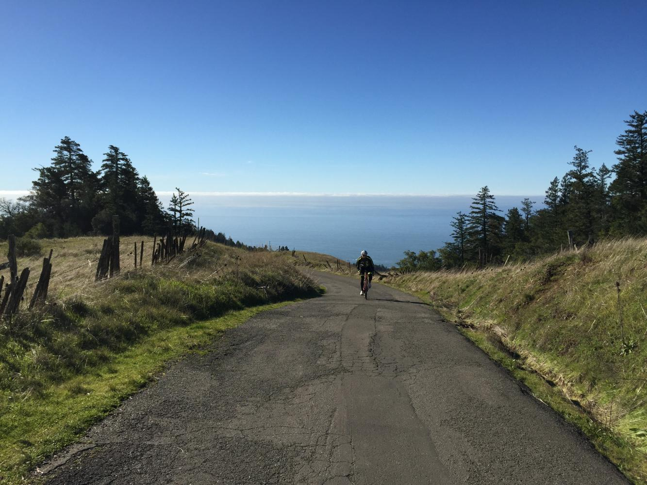 Fort Ross Road West Bike Climb - PJAMM Cycling
