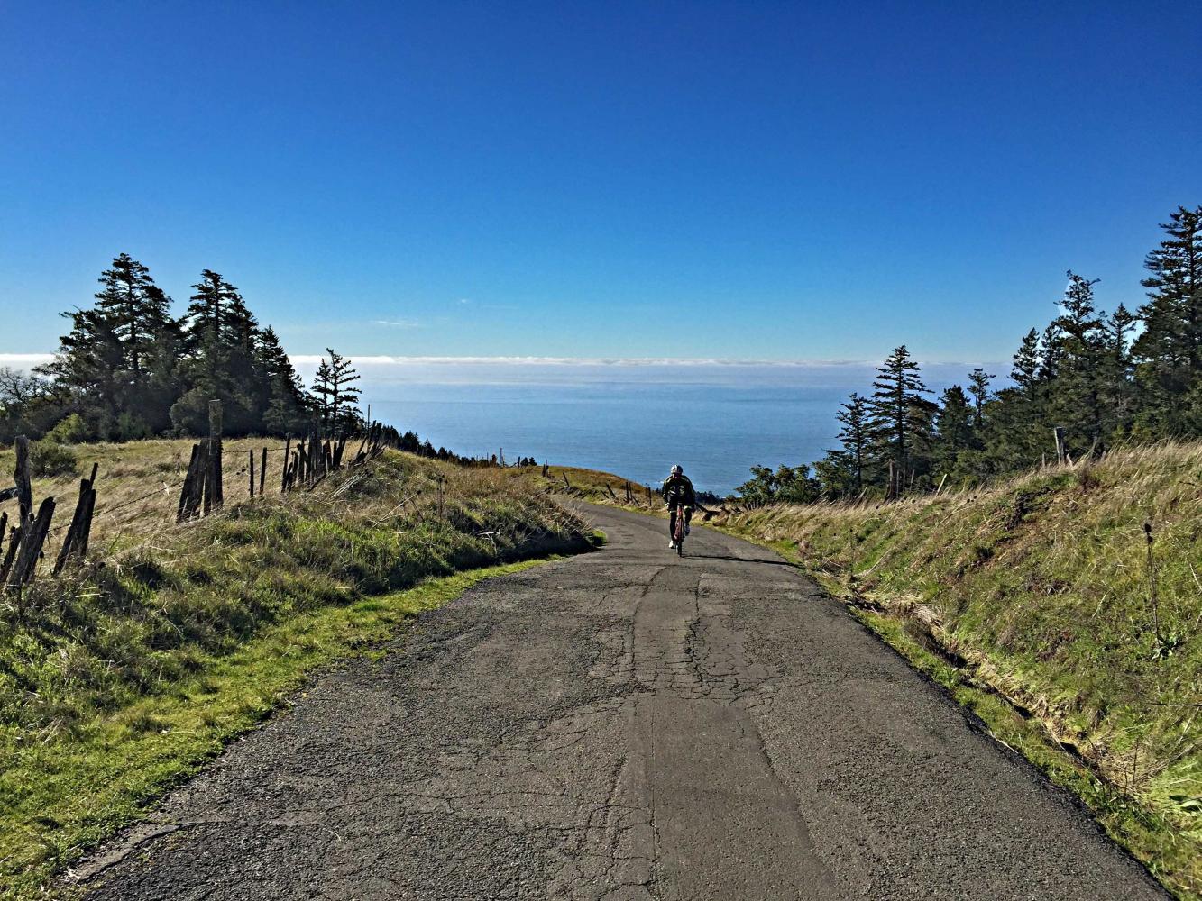 Fort Ross Road West Bike Climb - PJAMM Cycling