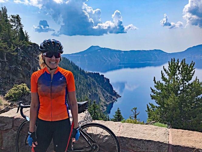 Crater Lake NP Clockwise from North Bike Climb - PJAMM Cycling