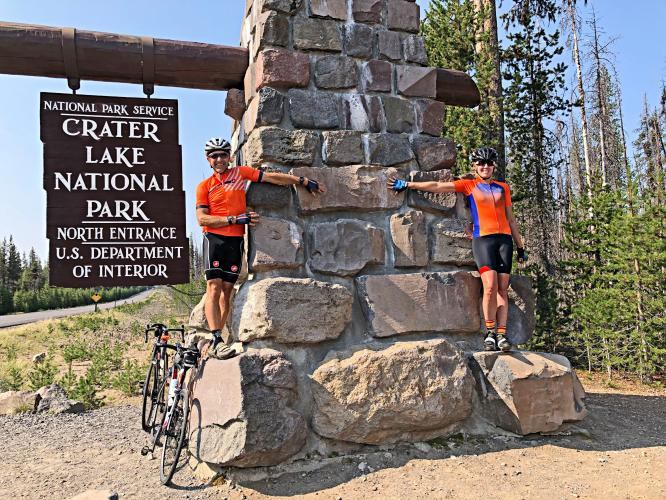 Crater Lake North to Watchman Overlook Bike Climb - PJAMM Cycling