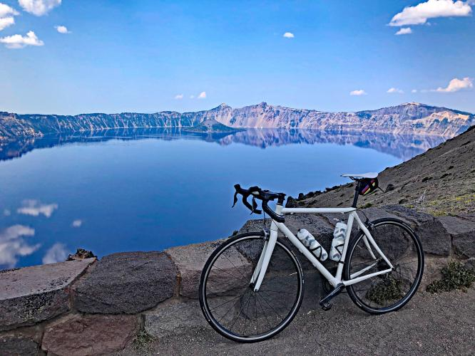 Crater Lake Hwy South to Watchman Overlook Bike Climb - PJAMM Cycling