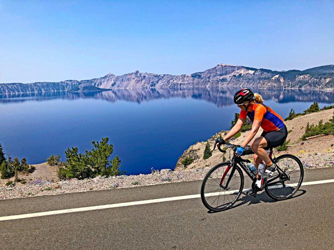 Crater Lake NP Clockwise from South Bike Climb - PJAMM Cycling