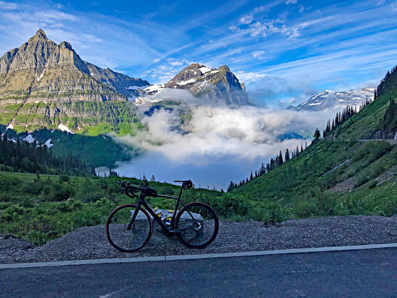Logan Pass West Bike Climb - PJAMM Cycling