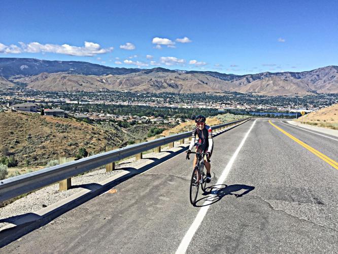 Badger Mountain Road Bike Climb - PJAMM Cycling