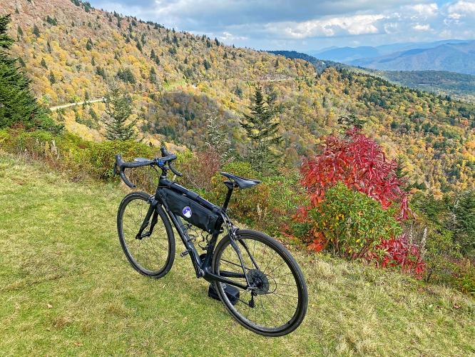 Blue Ridge Parkway to Waterrock Knob from Hwy 19 Bike Climb - PJAMM Cycling