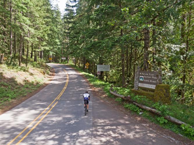 McKenzie Pass West  Bike Climb - PJAMM Cycling