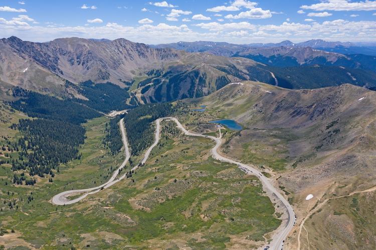 Loveland Pass from Keystone Bike Climb - PJAMM Cycling