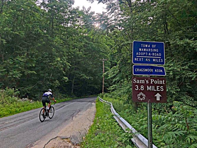 Sam's Point Road Bike Climb - PJAMM Cycling